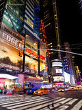 New York på nätterna Arkivfoto