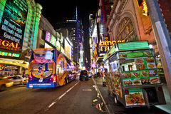 New York på nätterna Royaltyfria Foton