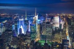 New York på natten Arkivfoton
