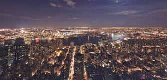 New York på natten Royaltyfria Foton