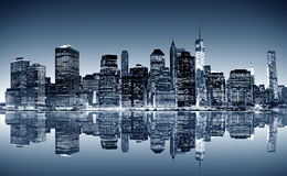 New York panorama Stock Photo
