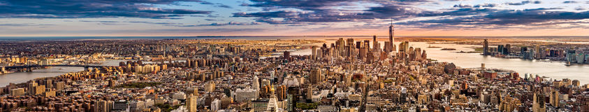 New York Panorama. Before sunset