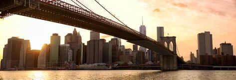 New York panorama at sunset Stock Photo