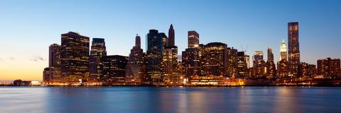 New York - Panorama van Manhattan Royalty-vrije Stock Afbeeldingen
