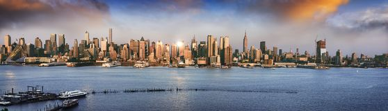 New York panoramic Royalty Free Stock Image