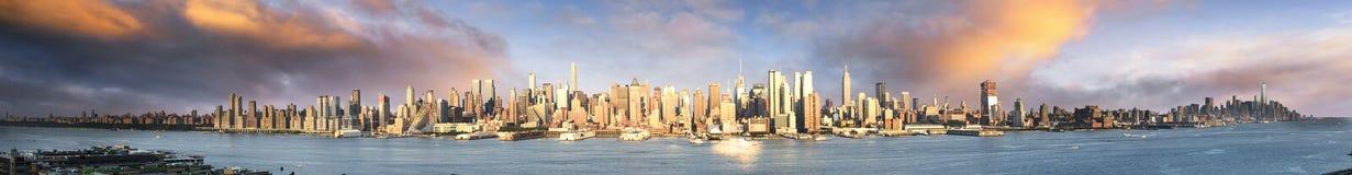 New York panoramic stock images