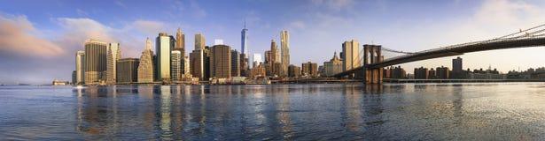 New York panoramic royalty free stock photo
