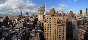 New York panoramic shot from Chelsea Royalty Free Stock Photo
