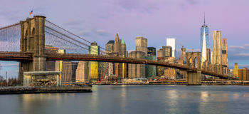 New York - Panoramic view of Manhattan, early morning Stock Photography