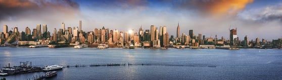 New York panoramica Immagine Stock Libera da Diritti