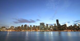 New York panoramica Immagine Stock