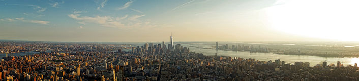 New York panoramisch Lizenzfreie Stockfotografie