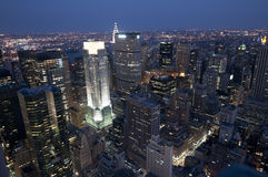 New York par Night à partir du dessus du Rockefeller Photos libres de droits