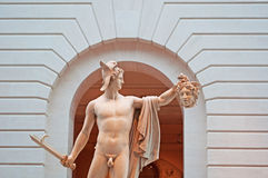 New York: Perseus with the Head of Medusa in Guggenheim Museum building on September 17, 2014 Stock Photography