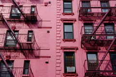 New York pink front Royalty Free Stock Photography
