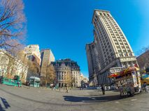 New York Plaza. A plaza near the Brookling bridge entrance in New York Stock Photos