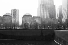 New York pluvieux - 9/11 monochrome commémoratif Photo libre de droits