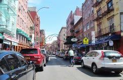 New York, poca Italia - 21 giugno 2017 - scena della via nel ` s di New York la poca Italia Fotografia Stock Libera da Diritti