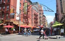 New York, poca Italia - 21 giugno 2017 - scena della via nel ` s di New York la poca Italia Immagini Stock Libere da Diritti