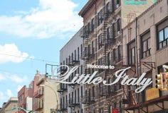 New York, poca Italia - 21 giugno 2017 - scena della via nel ` s di New York la poca Italia Fotografia Stock
