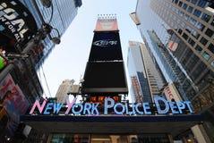 New York Police Department. New York City Police Department in famous Times Square in New York City Royalty Free Stock Photo
