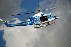 New York Police Department helicopter Royalty Free Stock Image