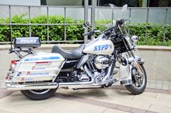 New York Police Department Motorcycle Royalty Free Stock Photos