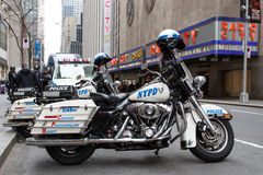 NYPD Motor Cycle Royalty Free Stock Photography
