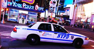 New York Police Department office in Times Square Royalty Free Stock Photo
