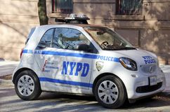 New York Police Department Smart Car Royalty Free Stock Photos