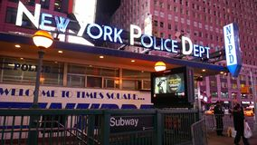 New York Police Department at Time Square stock video footage