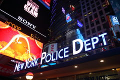 New York Police Department, Times Square, Manhatta Stock Image