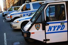New York Police Department vehicles Stock Photo
