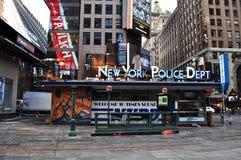 New York Police Dept. An image of the New York Police Dept kiosk in Time Square in New York Stock Photos