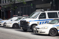 New York Police vehicles Royalty Free Stock Image