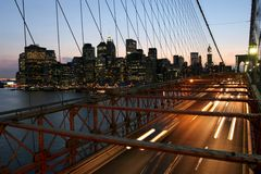 New York, ponte di Brooklyn Fotografia Stock Libera da Diritti