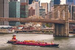 New York, ponte di Brooklyn Fotografie Stock