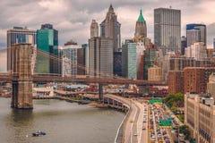 New York, ponte di Brooklyn Immagini Stock