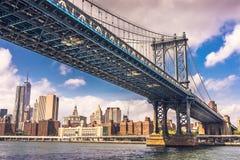 New York, ponte di Manhattan Immagini Stock