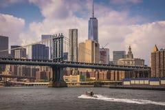 New York, ponte di Manhattan Fotografia Stock
