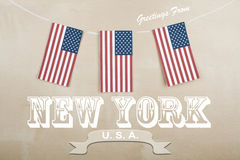 New York Postcard Stock Photography