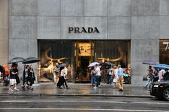 New York Prada stock photography