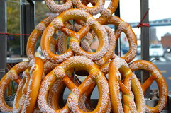 New York Pretzels Stock Photography