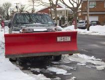 New York pronto per pulisce dopo che le bufere di neve massicce colpisce a nordest fotografia stock libera da diritti