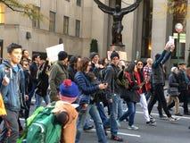New York; Protesta di Trump Fotografia Stock Libera da Diritti