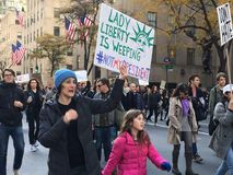 New York; Protesta di Trump Immagine Stock
