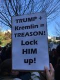 New York; Protesta di Trump Immagini Stock