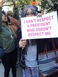New York; Protesta di Trump Fotografia Stock