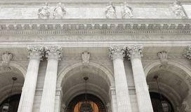 New York Public Library. Main entrance to the New York Public Library Stock Images