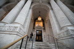 New York Public Library Facade Stock Images